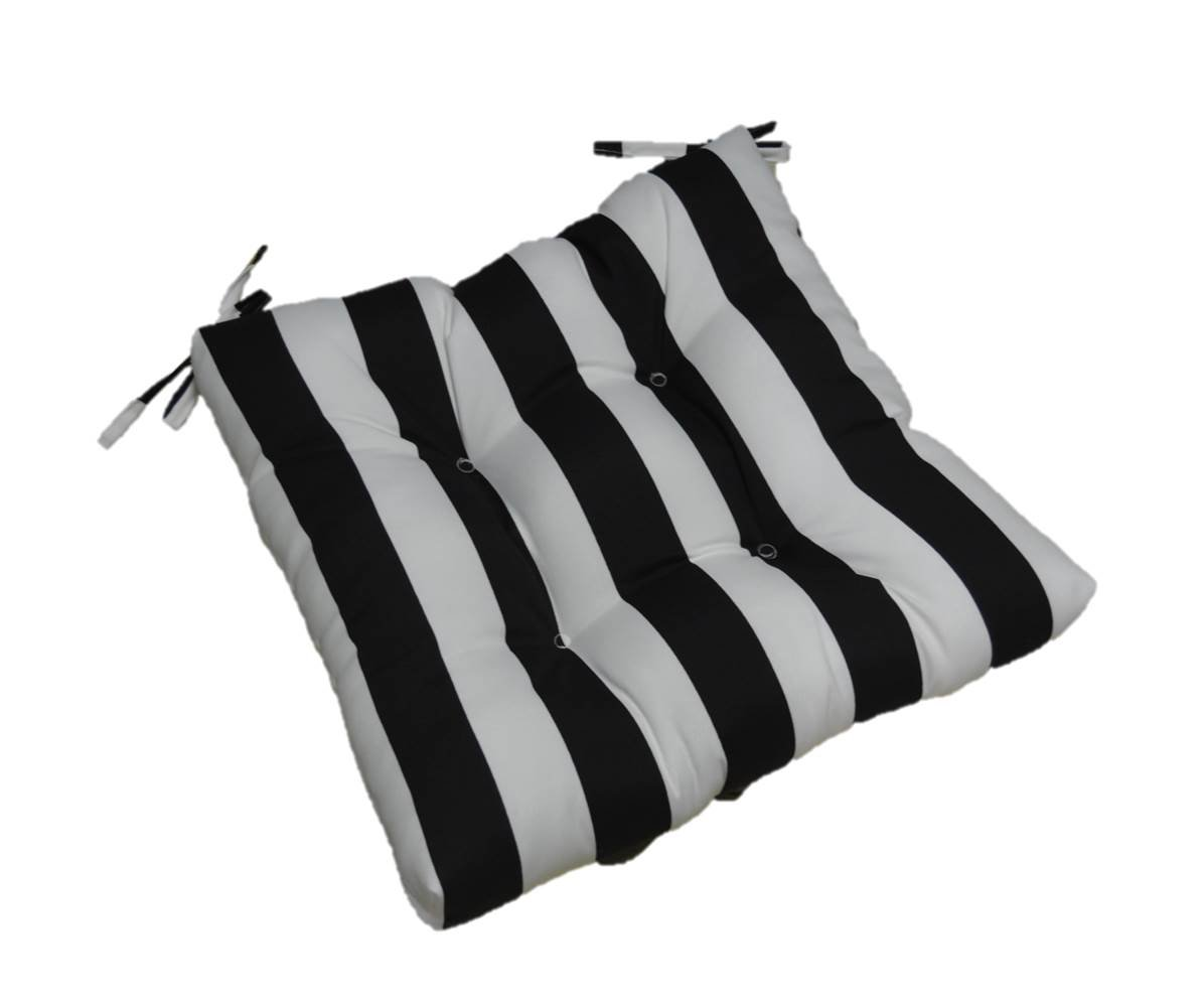 Amazon.com: Indoor / Outdoor Black and White Stripe Universal Tufted ...