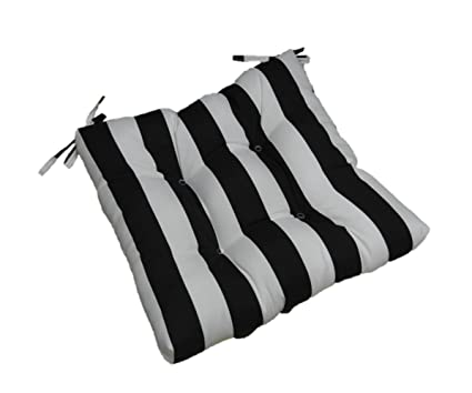 Amazon Com Indoor Outdoor Black And White Stripe Universal Tufted