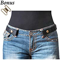 No Buckle Stretch Belt For Women Men Elastic Waist Belt Up to 72 Inch for Jeans Pants