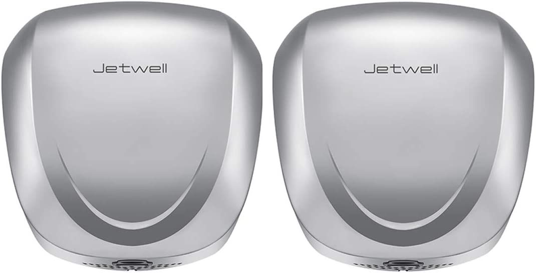 JETWELL 2Pack High Speed Commercial Automatic Eco Hand Dryer-Heavy Duty