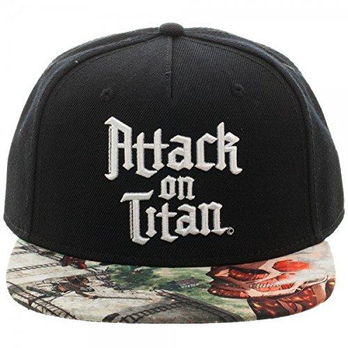 Attack On Titan Sublimated Bill Snapback Hat Black