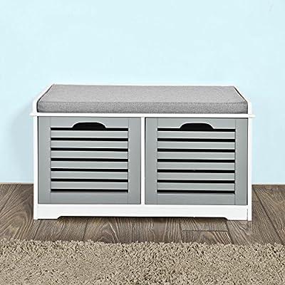 Haotian White Storage Bench,Shoe Cabinet,Shoe Bench,Storage Cabinet -  - entryway-furniture-decor, entryway-laundry-room, benches - 51UL5nVMtFL. SS400  -