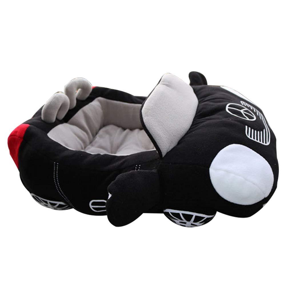 Black Goodtimes28 Car Shape Pet Bed Dog Kennel Cushion Winter Cat House Warm Soft Puppy Sofa Mat Black