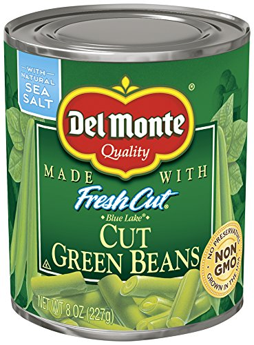 Del Monte Canned Fresh Cut Green Beans, 8-Ounce (Pack of 12)