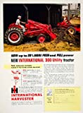 1956 Ad International Harvester Fast-Hitch Torque Amplifier Tractor 300 Utility - Original Print Ad