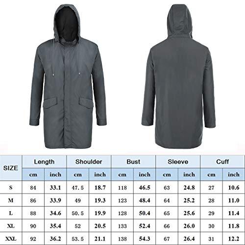 326cc989d bosbary Raincoats Men's Waterproof Lightweight Long Rain - Import It All