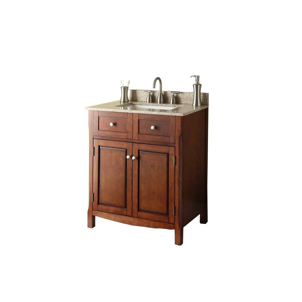 Pegasus 30 in. W x 34-1/4 in. H x 21 in. D Vanity Cabinet Only in ...