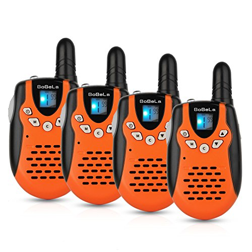 Bobela Walkie Talkie for Kids, Mini Cruise Ship Accessories with Flashlight,Easy to Use Walky Talky for Boys and Girls as Birthday Festival Gifts for Family Travel Trip (602 Orange, 4 -