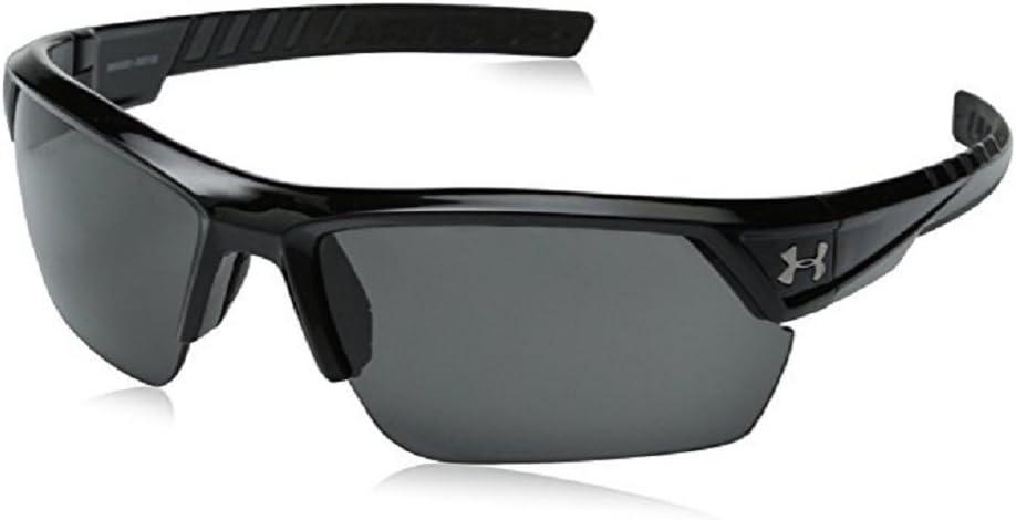 アンダーアーマー スポーツサングラス イグナイター2.0 シャイニーブラック&グレイ Under Armour Ignite2.0 Sunglasses Shiny 黒 & 黒 Rubber [並行輸入品]