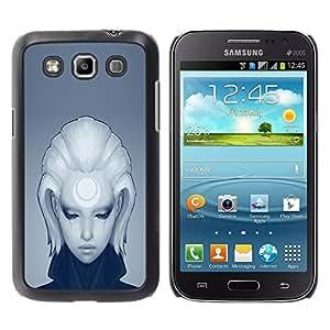 TopCaseStore / la caja del caucho duro de la cubierta de protección de la piel - Cool Deep Sad Girl - Samsung Galaxy Win I8550 I8552 Grand Quattro