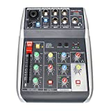 Cheap Phenyx Pro 4-Channel Audio USB Mixer, 4-Input, 3-Band EQ, Compact Size With Effects And USB Audio Interface To Computer/PC, Ideal for Home Recording, Small Gigs, Live Music (PTX-10)