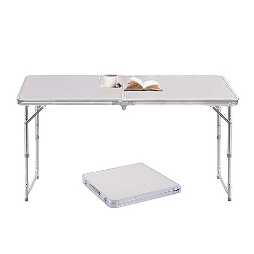 Tavoli Alluminio Pieghevoli Usati.Sunreal 1 2m Tavolo Pieghevole In Alluminio Portatile Da Campeggio