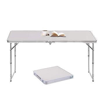 Sunreal 1,2 m Table Pliante en Aluminium Table de Camping Portable  extérieur Pique-Nique/BBQ/fête de Jardin/Coffre de Voiture Self-Driving Tour