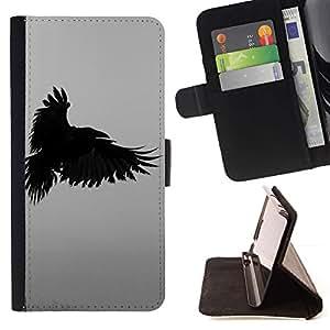 Momo Phone Case / Flip Funda de Cuero Case Cover - Profonde écriture Nature Oiseau - Samsung ALPHA G850