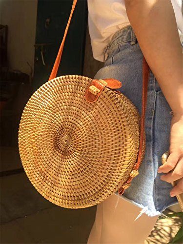 12 20x7cm 10 Bohemia Rattan Women 20x7cm Bag Small Beach For Bags Bag Bag Vintage Bags Crossbody Summer Circle Straw Handmade TURnaUqx