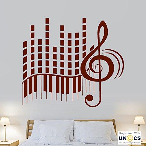 Música Notas del piano pegatinas Arte Tatuajes de pared Sala de ...