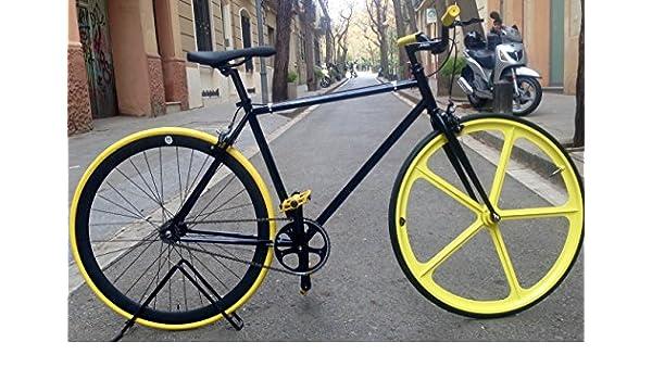 Bicicleta Monomarcha Single Speed Fix-5 Classic BlackYellow talla ...