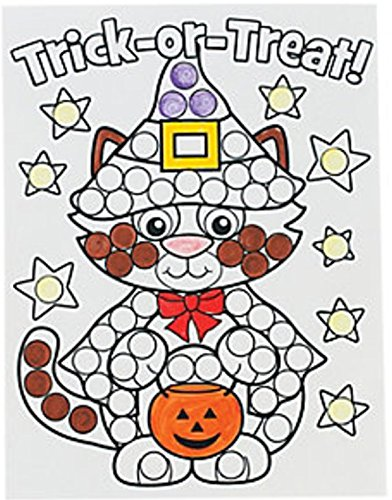 Halloween Dot Marker Activity Sheets, Do-a-Dot Marker Pages, Preschool Dot (Halloween Dot To Dot Sheets)