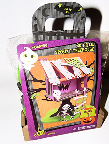 3D Spooky Tree House Halloween Decorations Foam Activity Kit Art (Halloween Homeschool Projects)