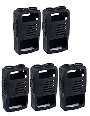 Retevis Rubber Soft Handheld 2 Way Radio Case Holster Protection for Baofeng BF-UV5R UV-5RV UV-5RE UV5R+ UV-985 Retevis RT-5R RT-5RV WalkIe Talkies (5 Pack) from Retevis