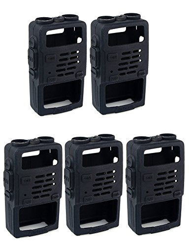 Retevis 2 Way Radio Case Holster Holster Pouch Protection for Baofeng UV-5R UV-5RV RT-5R RT-5RV WalkIe Talkies (5 Pack) by Retevis