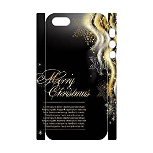 Customized Phone Case with Hard Shell Protection for Iphone 5,5S 3D case with Merry Christmas