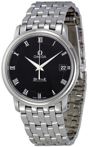 Omega Men's 4510.52 DeVille Co-Axial Black Dial Watch