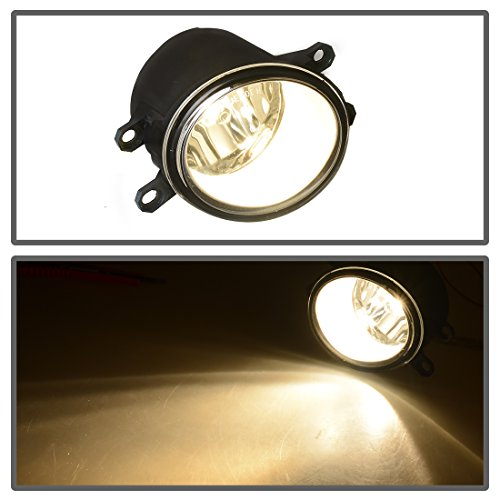 Fit 16 Scion iM 17-18 Toyota iM Replacement Fog Light Lamps w//LED Bulbs Clear