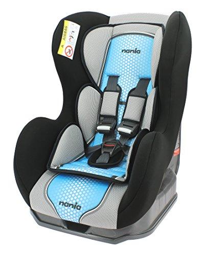Nania Kindersitz Cosmo SP, Gruppe 0/1, 0-18 kg, von Geburt bis ca. 4 Jahre, in drei verschiedenen Farben (POP BLUE)