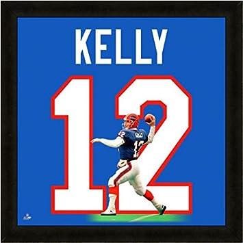 Amazon.com: Buffalo Bills Jim Kelly #12 Players Jersey Uniframe ...