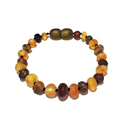 Child Pippin Raw Green Honey Baltic Amber Anklet Bracelet Jewellery & Watches Anklets