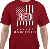 Sweet Tees™ Remember Everyone Deployed Military Support Our Troops T-Shirt - Red - Medium