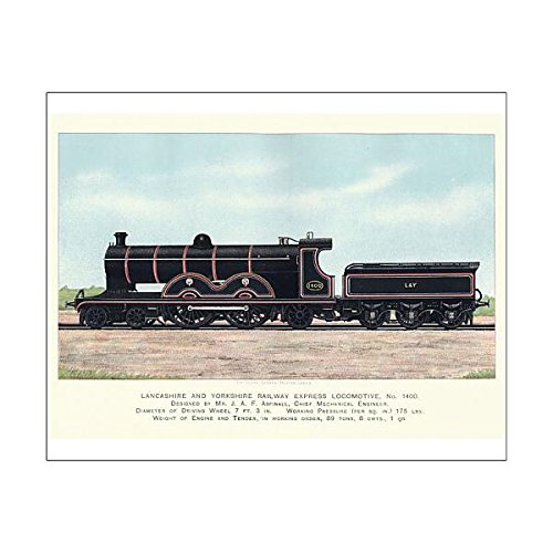 Media Storehouse 10x8 Print of Lancashire and Yorkshire Railway Express Locomotive, 1899 (14794549) ()