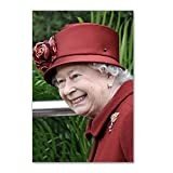 "CafePress - HRH QUEEN ELIZABETH II Postcards (Package Of 8) - Postcards (Package of 8), 6""x4"" Glossy Print Note Card"