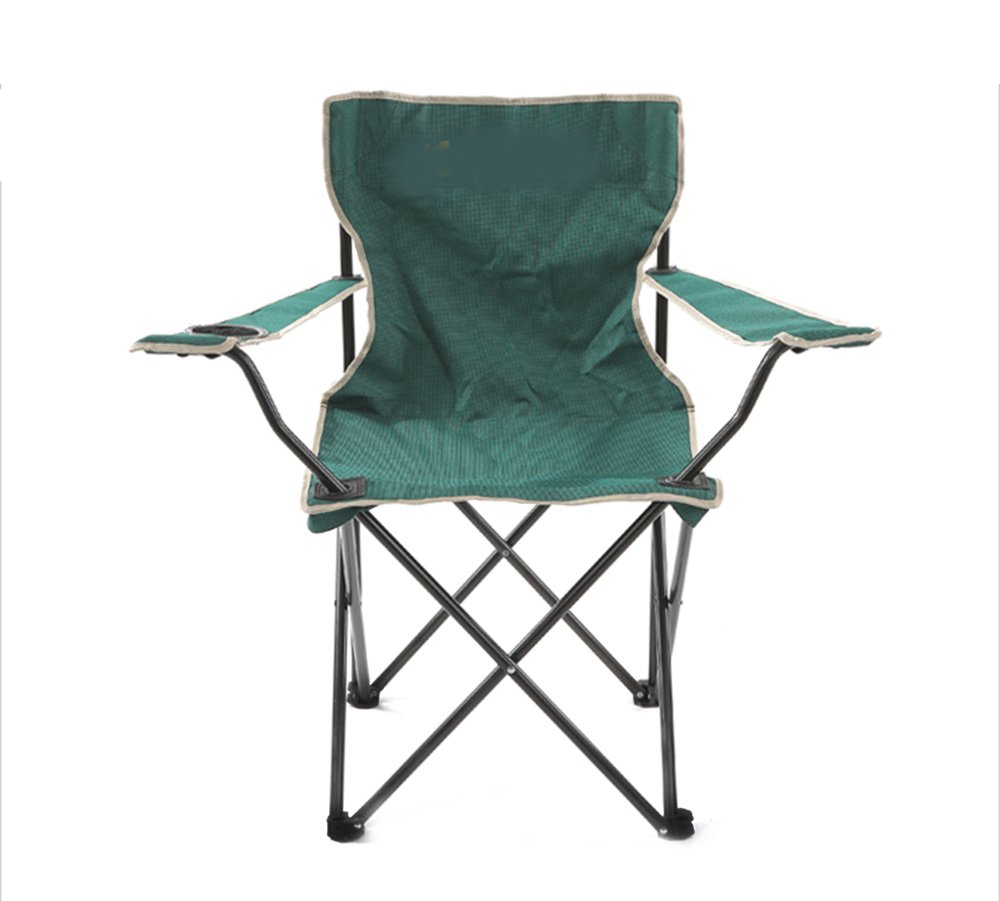 Padded Folding Camp Arm Chair, Ideal Für Camping, Festivals, Garten, Caravan Trips, Angeln, Strand, Bbqs (Grün)