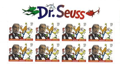 2004 DR. SEUSS #3835 Top Block of 8 x 37 cents US Postage Stamps by US Postal Service