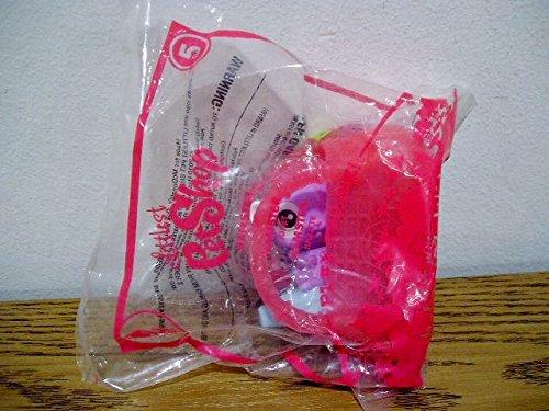 McDonalds Littlest Pet Shop 2010 - Hamster in Light Red Basket #5