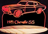 1971 Chevelle SS Acrylic Lighted Edge Lit 11-13'' LED Sign / Light Up Plaque 71 VVD1 Full Size Made in USA