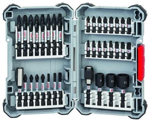 Schrauberbit-Set Impact Control | Bohraufsatz-Set | 36-teiliges Zubehö r Set fü r Akku-Schrauber | 23x Schrauberbits, 3x Steckschlü ssel, 8x Doppelklingen, je 1x Universalhalter magnetisch und standard Bosch 2608522365