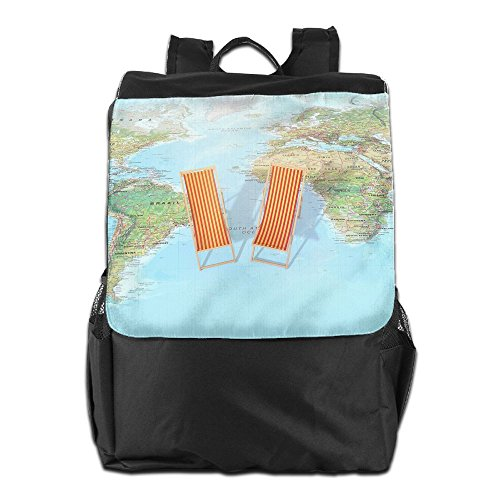 Dayback Storage and Shoulder HSVCUY Men Adjustable Travel Outdoors Camping Map Personalized Women for World Strap School Backpack SZqSPwz7