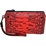 Kenneth Cole Abbington Lizard Embosed Leather Pouch