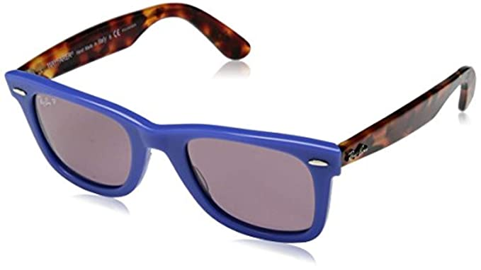 Amazon.com: Bundle: Ray-Ban RB2140 Wayfarer azul/violeta ...