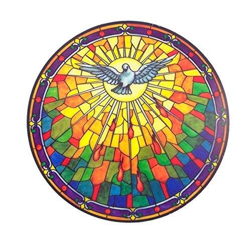 Window Spirit (Holy Spirit Stained Glass Sun Catcher Window Sticker, 5 3/4 Inches)