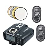 """Godox X1T-S 2.4G TTL Wireless Flash Transmitter with Pack of 2 XTR-16 Receiver with 32""""5-in-1 Reflector for Sony DSLR Cameras A77II, A7RII, A7R, A58, A99, ILCE6000L, etc."""