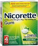 Nicorette Gum 4mg Fresh Mint - 100 ct, Pack of 3