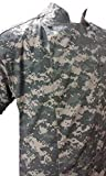 Camouflage Digital ACU Chef Coat Jacket Short Sleeve Soft Cotton Easy Care Cook Coat (XL 54 in.Chest)
