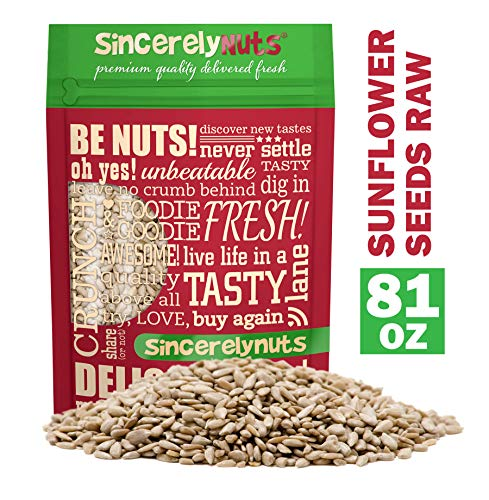 Sincerely Nuts Sunflower Seed Kernels Raw (No Shell) (5lb bag) | Delicious Antioxidant Rich Snack | Source of Protein, Fiber, Essential Vitamins & Minerals | Vegan and Gluten ()