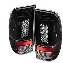 Spyder Auto Ford F150 Styleside/F250/350/450/550 Super Duty Black LED Tail Light