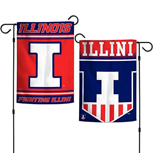 Fighting Illini Illinois University (Elite Fan Shop Illinois Fighting Illini Garden Flag 12.5