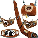 Yu-Xiang 5 Pcs Forest Sugar Glider Hanging Cage